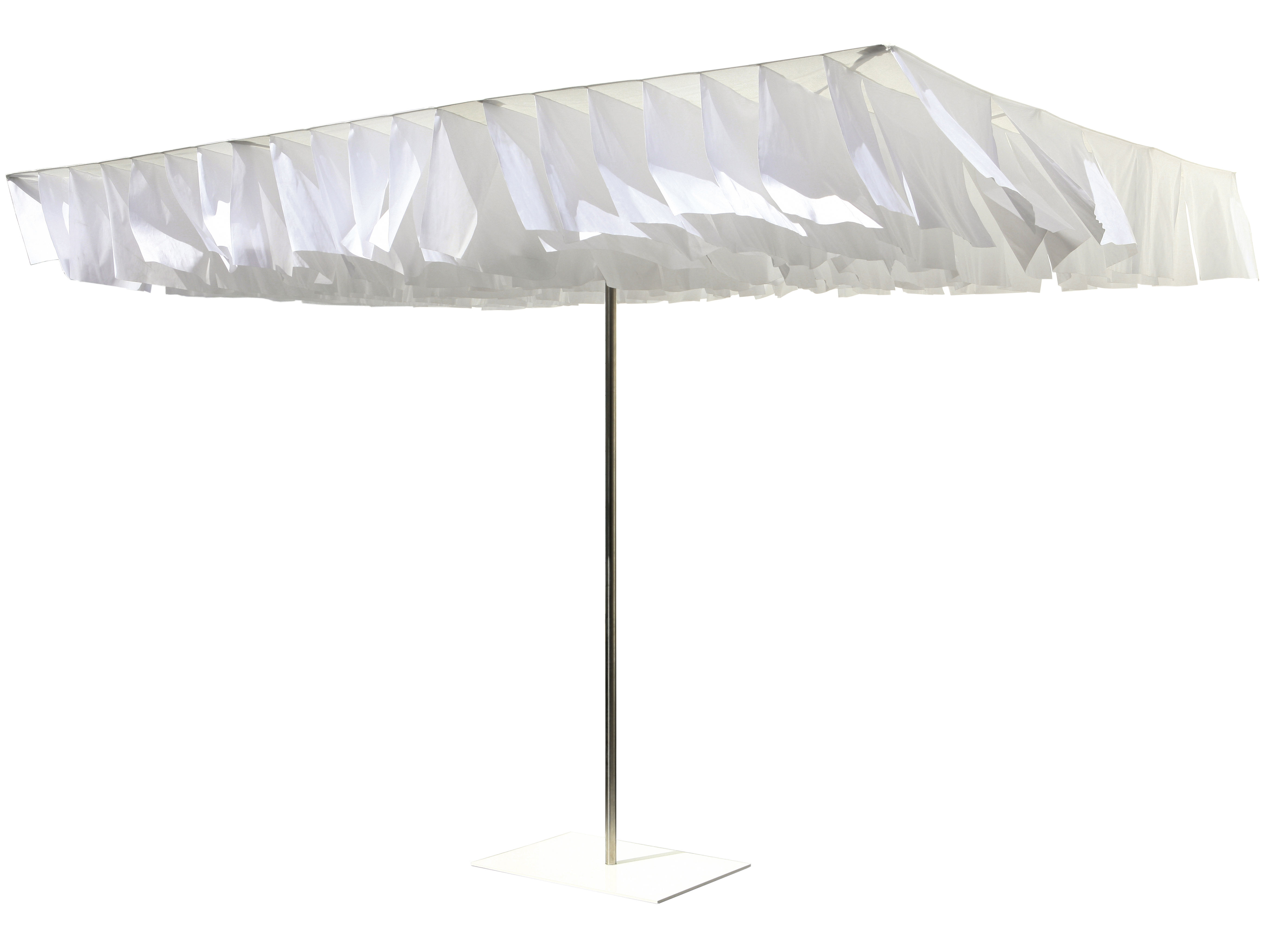 Outdoor - Parasols - Parasol Breezer - Symo - Parasol blanc / Toit blanc - Acier inoxydable, Tissu polyester