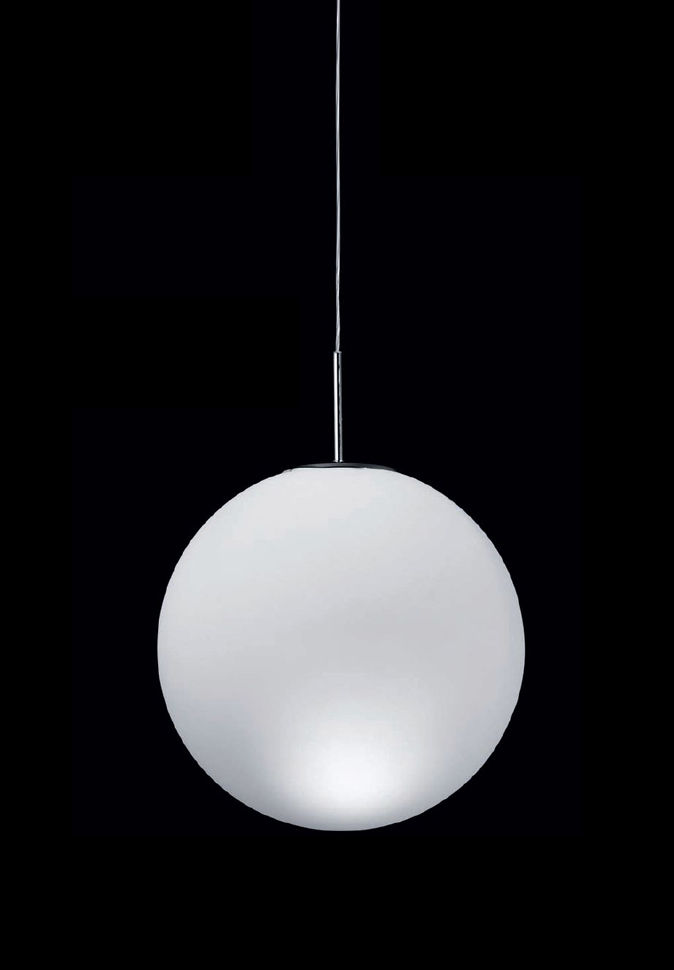 Lighting - Pendant Lighting - Asteroïde Pendant - Ø 30 cm by Nemo - White - Ø 30 cm - Blown glass
