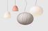Filigrana Ellipse Pendant - / White stripes -  Ø 45 cm by Established & Sons