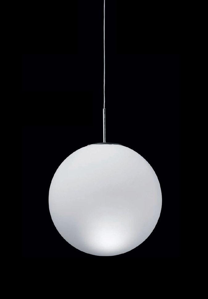 Leuchten - Pendelleuchten - Asteroïde Pendelleuchte Ø 30 cm - Nemo - Weiß - Ø 30 cm - geblasenes Glas