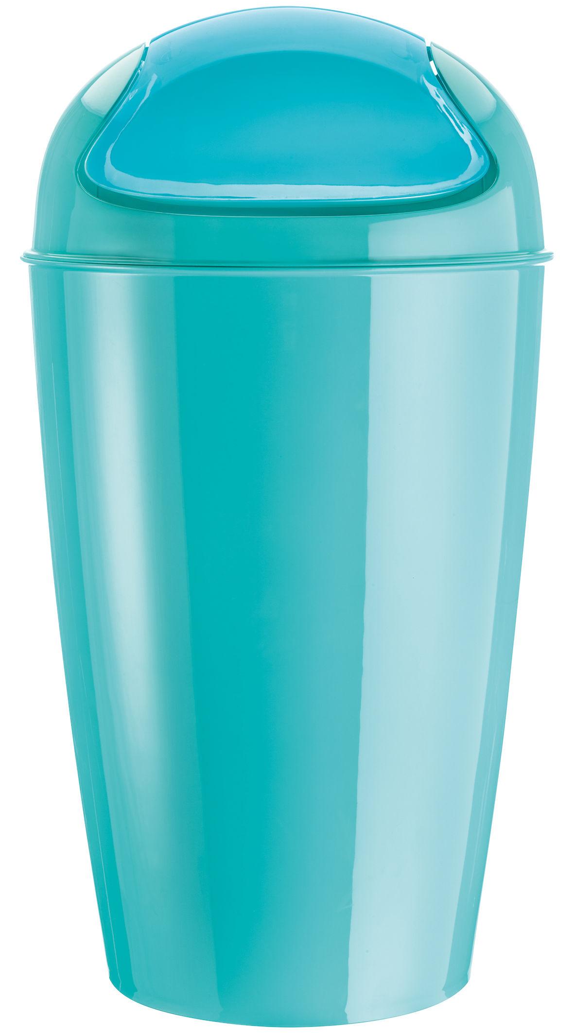 Déco - Poubelles - Poubelle Del XL / H 65 cm - 30 Litres - Koziol - Turquoise opaque - Polypropylène