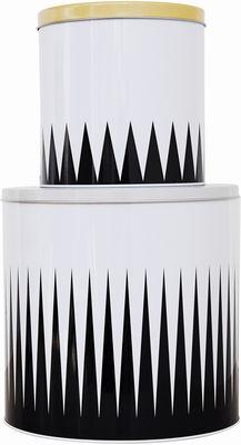 Tavola - Scatole e Barattoli - Scatola Spire - / Set da 2 di Ferm Living - Motivi Spire - Nero & Bianco - Metallo
