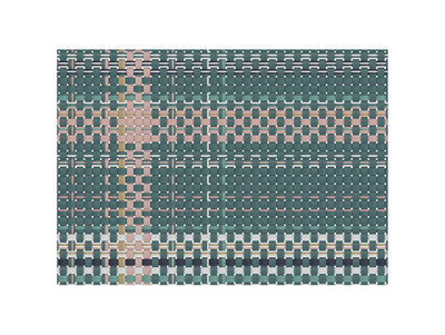 Set de table Tressage / 35 x 49 cm- Vinyle - PÔDEVACHE rose,kaki en matière plastique