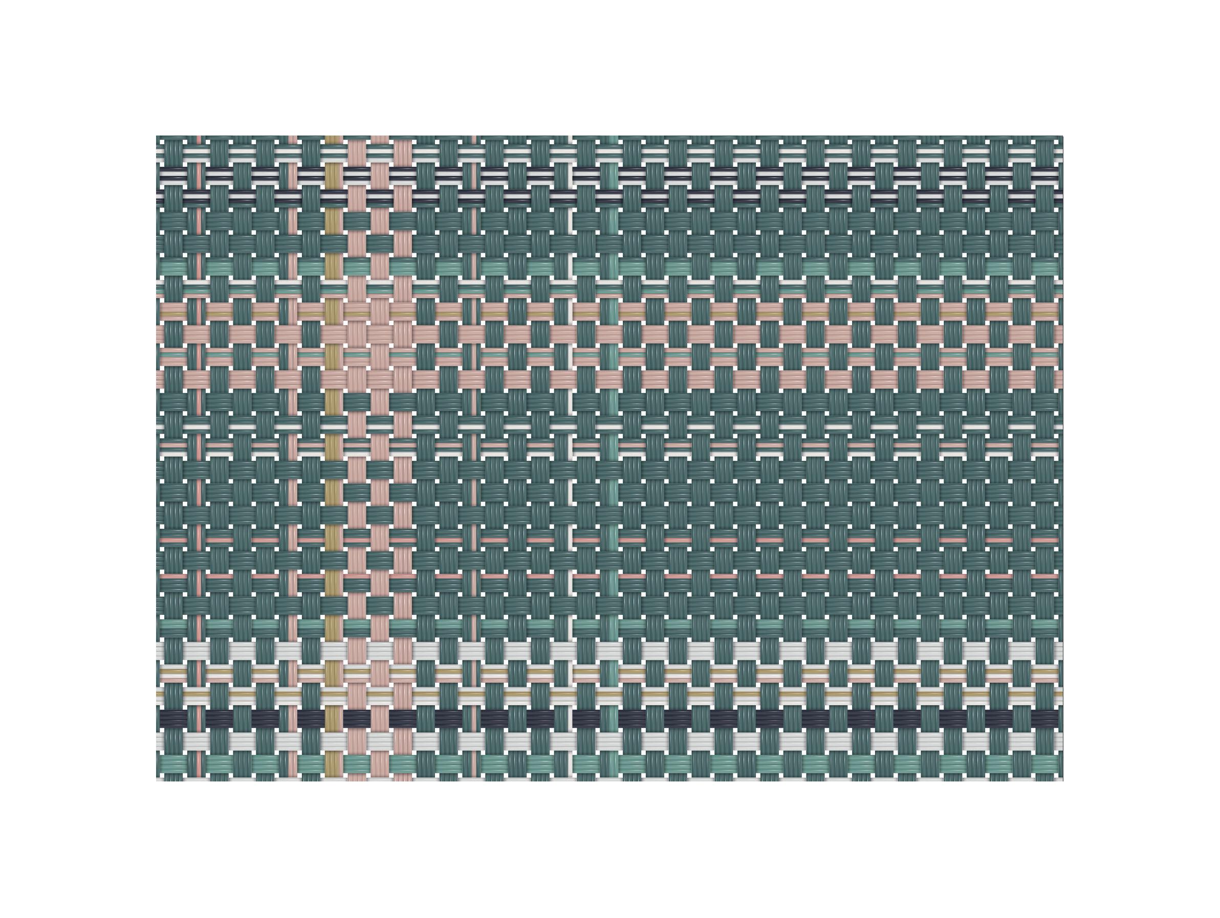 Arts de la table - Nappes, serviettes et sets - Set de table Tressage / 35 x 49 cm- Vinyle - PÔDEVACHE - Kaki & rose - Vinyle