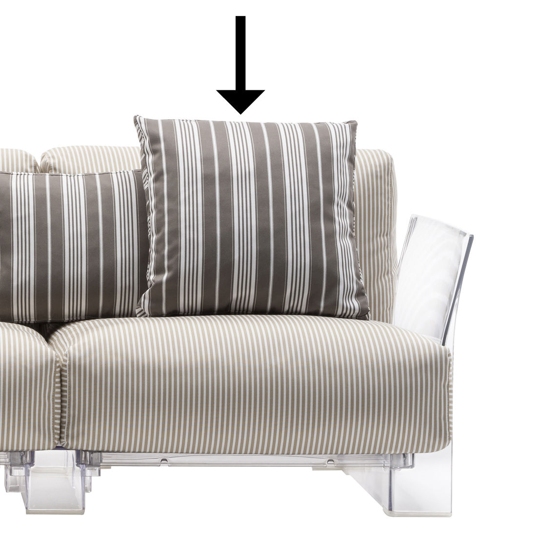 Furniture - Sofas - Sofa accessory - / 48 x 48 cm by Kartell - 48 x 48 cm / Dove grey - Acrylic fabric, Expanded polyurethane