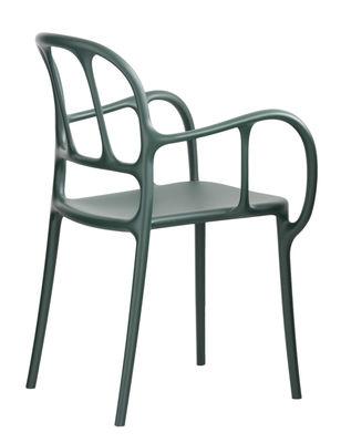 Milà Stapelbarer Sessel / Kunststoff - Magis - Dunkelgrün
