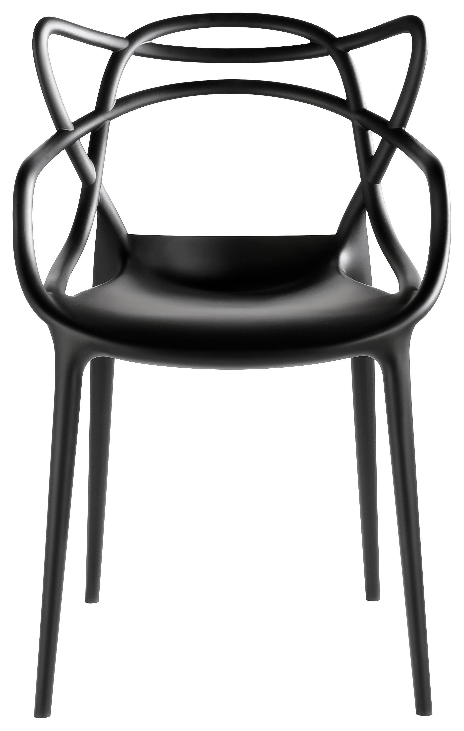 Möbel - Stühle  - Masters Stuhl- Kartell - Schwarz - Polypropylen