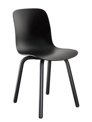 Möbel - Stühle  - Substance Indoor Stapelbarer Stuhl / Kunststoff & Beine aus Metall - Magis - Schwarz - gefirnister Stahl, Polypropylen