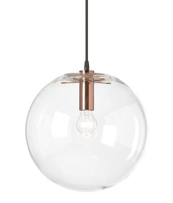 Suspension Selene / Ø 45 cm - Verre soufflé bouche - ClassiCon transparent/cuivre/métal en verre
