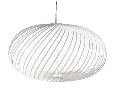 Suspension Spring Large LED / Ø 95 x H 70 cm - Bandes d'acier modulables - Tom Dixon blanc en métal