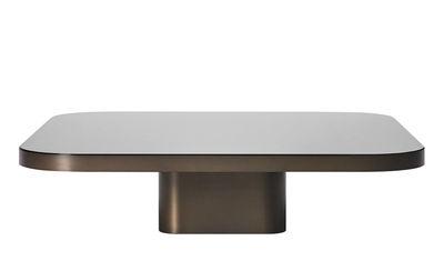 Table basse Bow n°5 / 100 x 100 cm - ClassiCon marron/noir en métal/verre