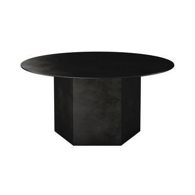 Table basse Epic / Acier - Ø 80 x H 38 cm - Gubi noir en métal