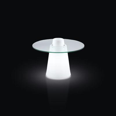 Table Basse Lumineuse Peak Slide Blanc Transparent Made In Design