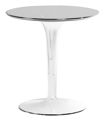 Mobilier - Tables basses - Table d'appoint Tip Top / Plateau PMMA - Kartell - Cristal / Pied cristal - PMMA