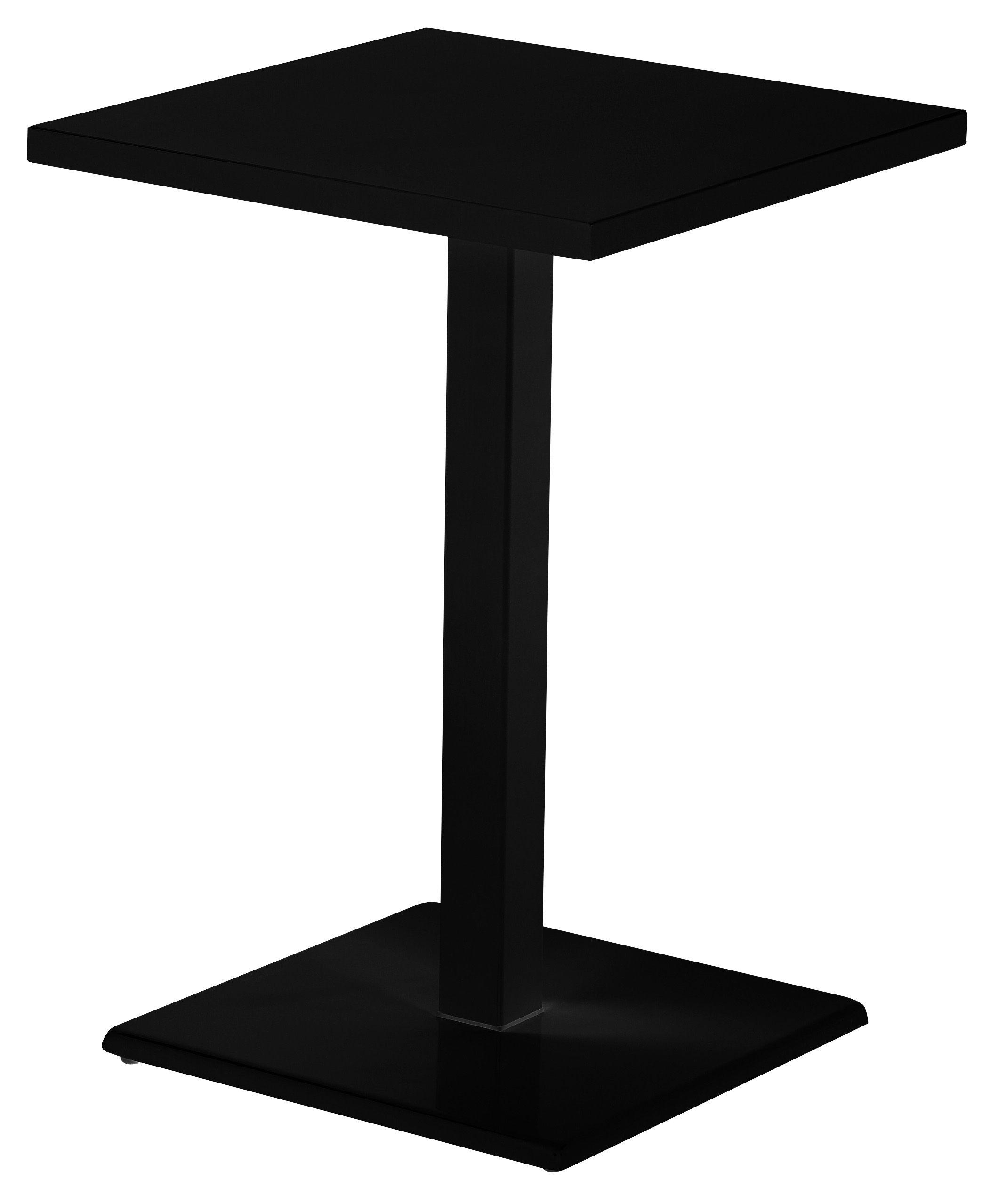 Tavoli Alti Da Bar Esterno.Tavolo Bar Alto Round Emu Nero H 105 Made In Design