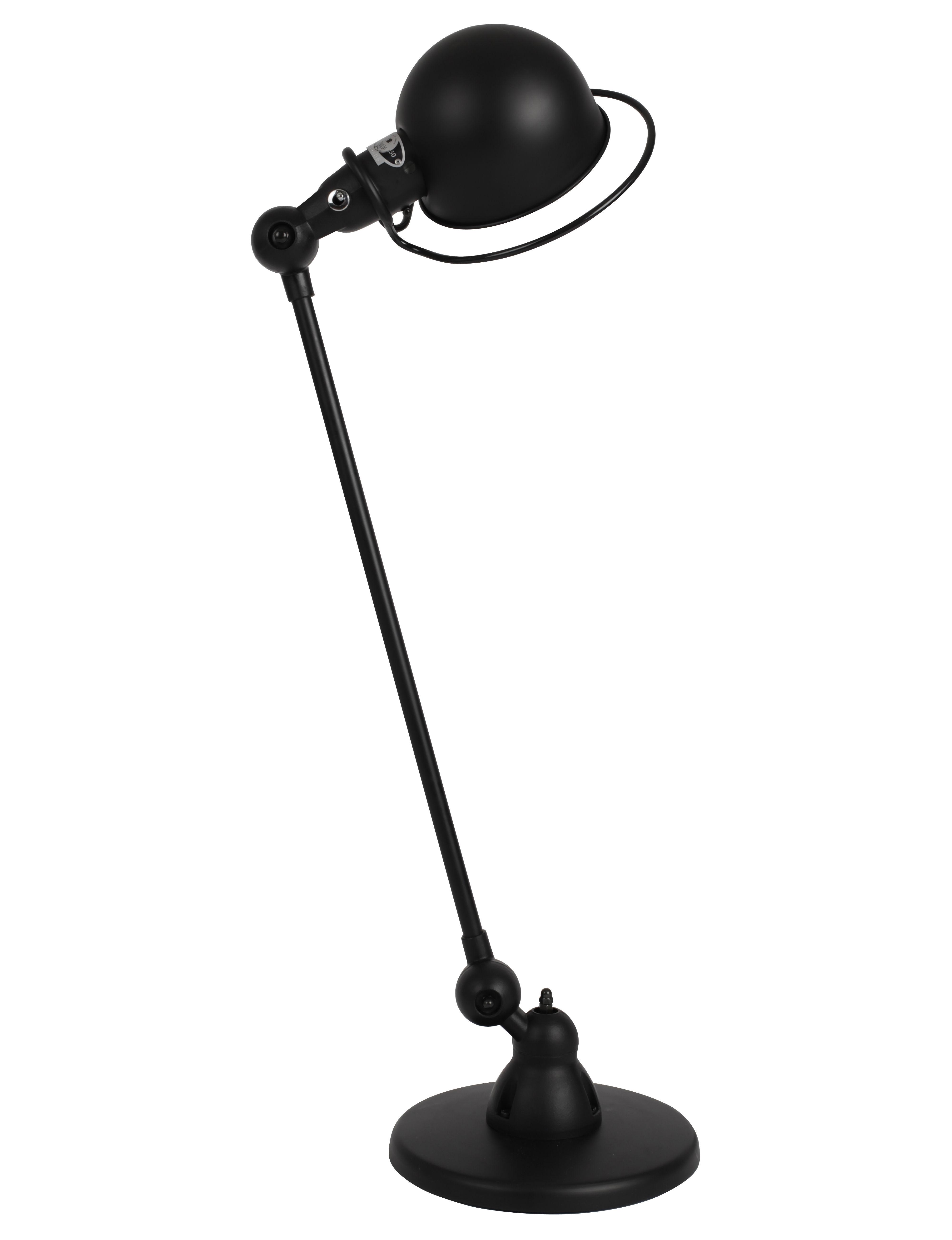 Leuchten - Tischleuchten - Loft Tischleuchte / mit Gelenkarm - L 60 cm - Jieldé - Schwarz, matt - Porzellan, rostfreier Stahl