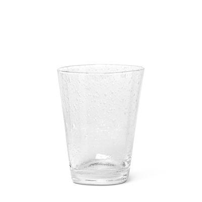 Arts de la table - Verres  - Verre Brus / Verre bullé soufflé bouche - Ferm Living - Transparent - Verre bullé soufflé bouche