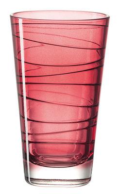 Arts de la table - Verres  - Verre long drink Vario / H 12,6 cm - Leonardo - Rouge - Verre