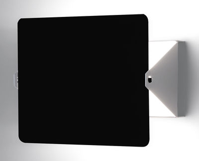 Alle Designer - Wandleuchte von Charlotte Perriand / Neuauflage des Originals von 1962 - Nemo - Weiß / Drehblende schwarz - bemaltes Aluminium, bemaltes Metall