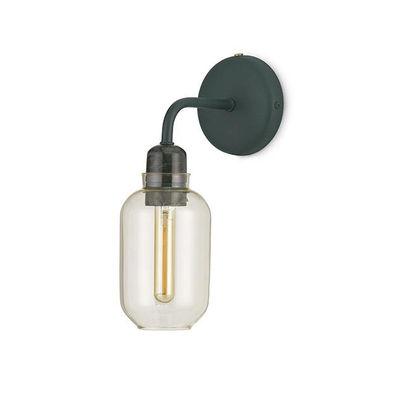 Illuminazione - Lampade da parete - Applique con presa Amp - / Vetro & Metallo di Normann Copenhagen - Verde / Vetro dorato - Marmo, Metallo, Vetro