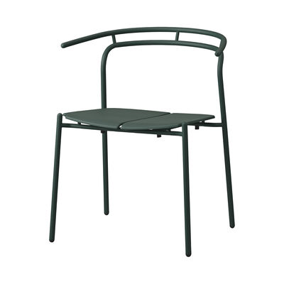 Furniture - Chairs - Novo Armchair - / Metal by AYTM - Forest green - aluminium, powder coating, Powder-coated steel