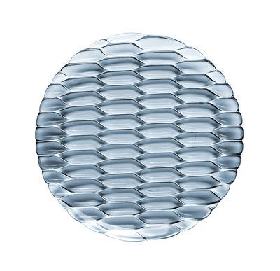 Arts de la table - Assiettes - Assiette à dessert Jellies Family / Ø 21,5 cm - Kartell - Bleu ciel - Technopolymère thermoplastique