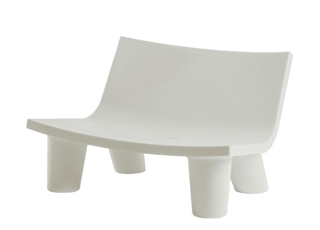 Outdoor - Sofas und Lounge Sessel - Low Lita Love Sofa 2 Sitze - Slide - Weiß - recycelbares Polyethen