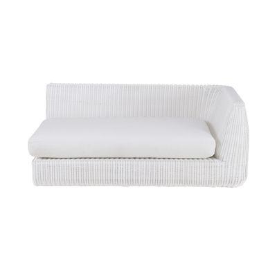Canapé modulable Agorà / Module accoudoir Gauche - L 160 cm - Unopiu blanc,blanc écru en matière plastique