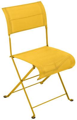 Chaise pliante Dune / Toile - Fermob miel en tissu