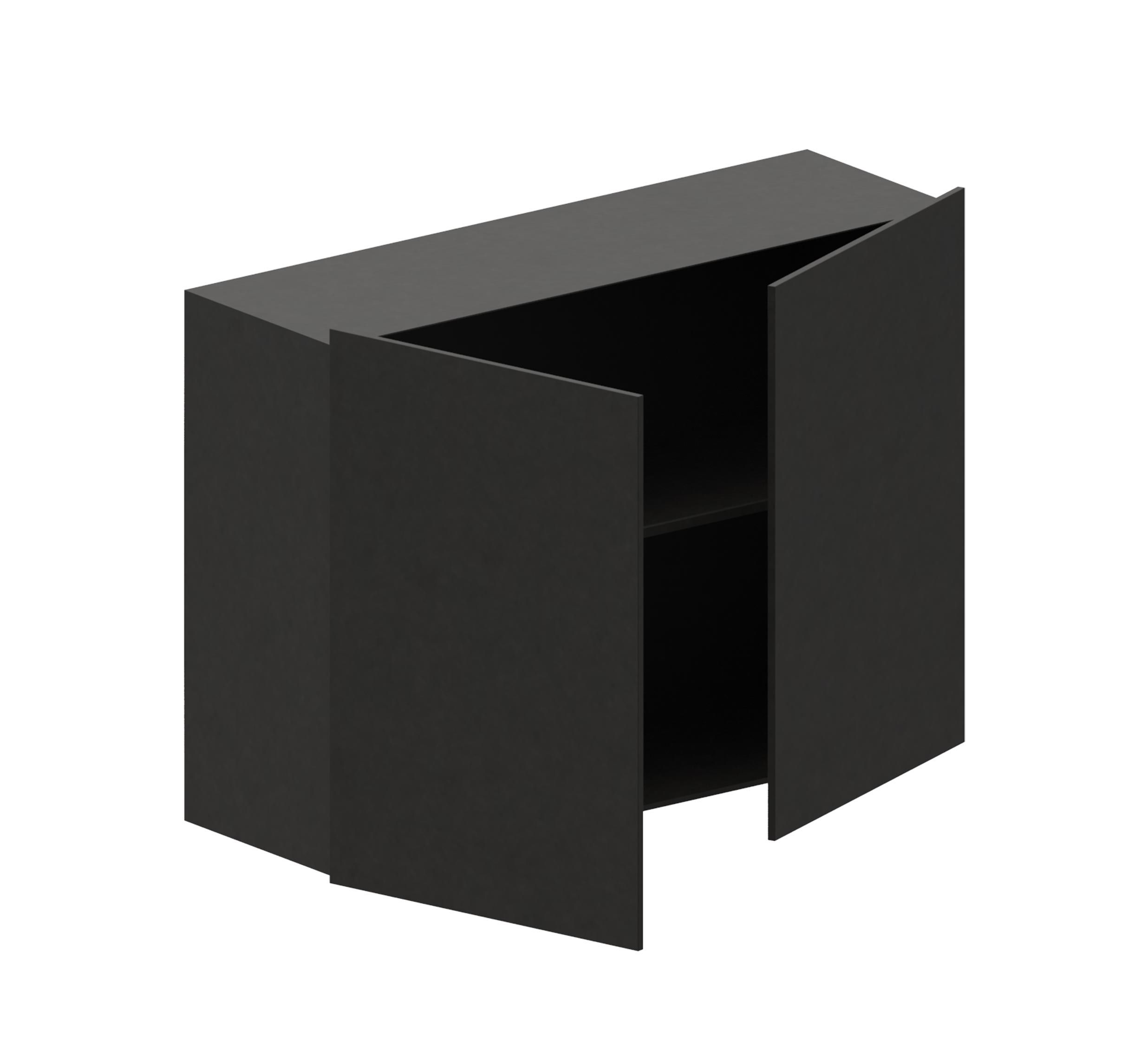 Furniture - Bookcases & Bookshelves - Crate - Push-pull / For Easy Irony bookcase - L 100 cm by Zeus - Copper black - Painted steel