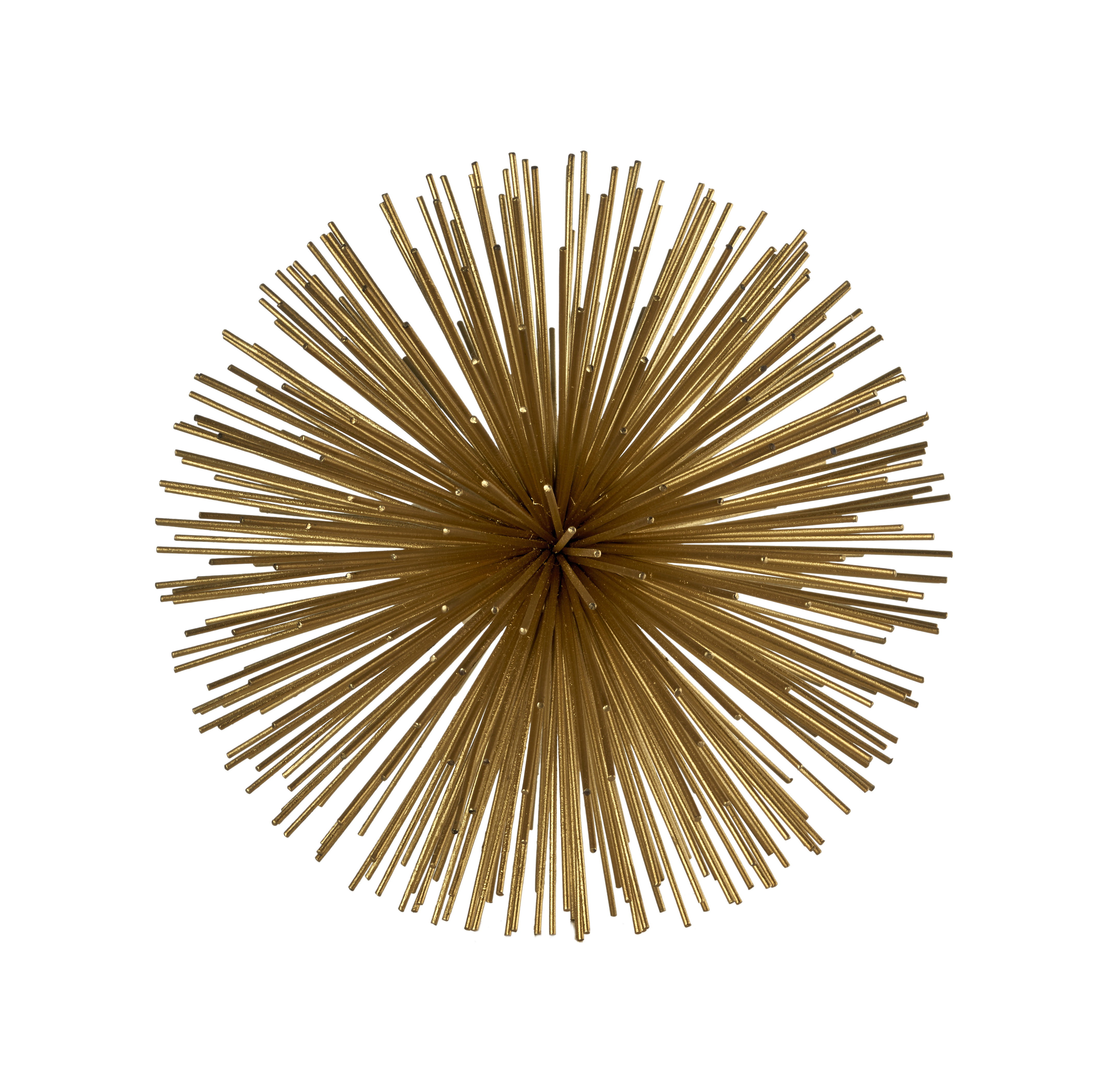Decoration - Home Accessories - Prickle brass Small Decoration - / Ø 18 cm - Metal by Pols Potten - Ø 18 cm / Brass - Tinted metal