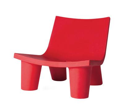 Fauteuil bas Low Lita - Slide rouge en matière plastique