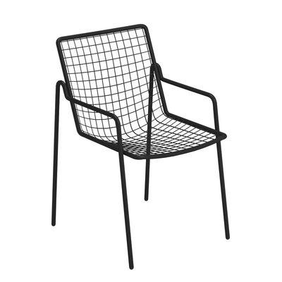 Mobilier - Chaises, fauteuils de salle à manger - Fauteuil empilable Rio R50 / Métal - Emu - Noir - Acier