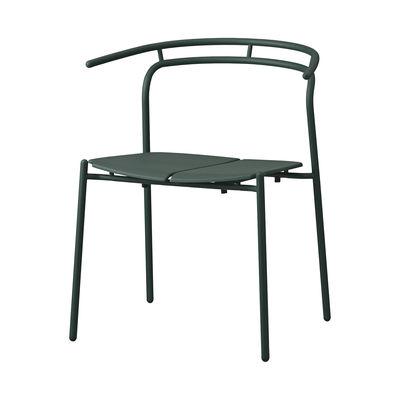 Mobilier - Chaises, fauteuils de salle à manger - Fauteuil Novo / Métal - AYTM - Vert forêt - Acier revêtement poudre, Aluminium revêtement poudre