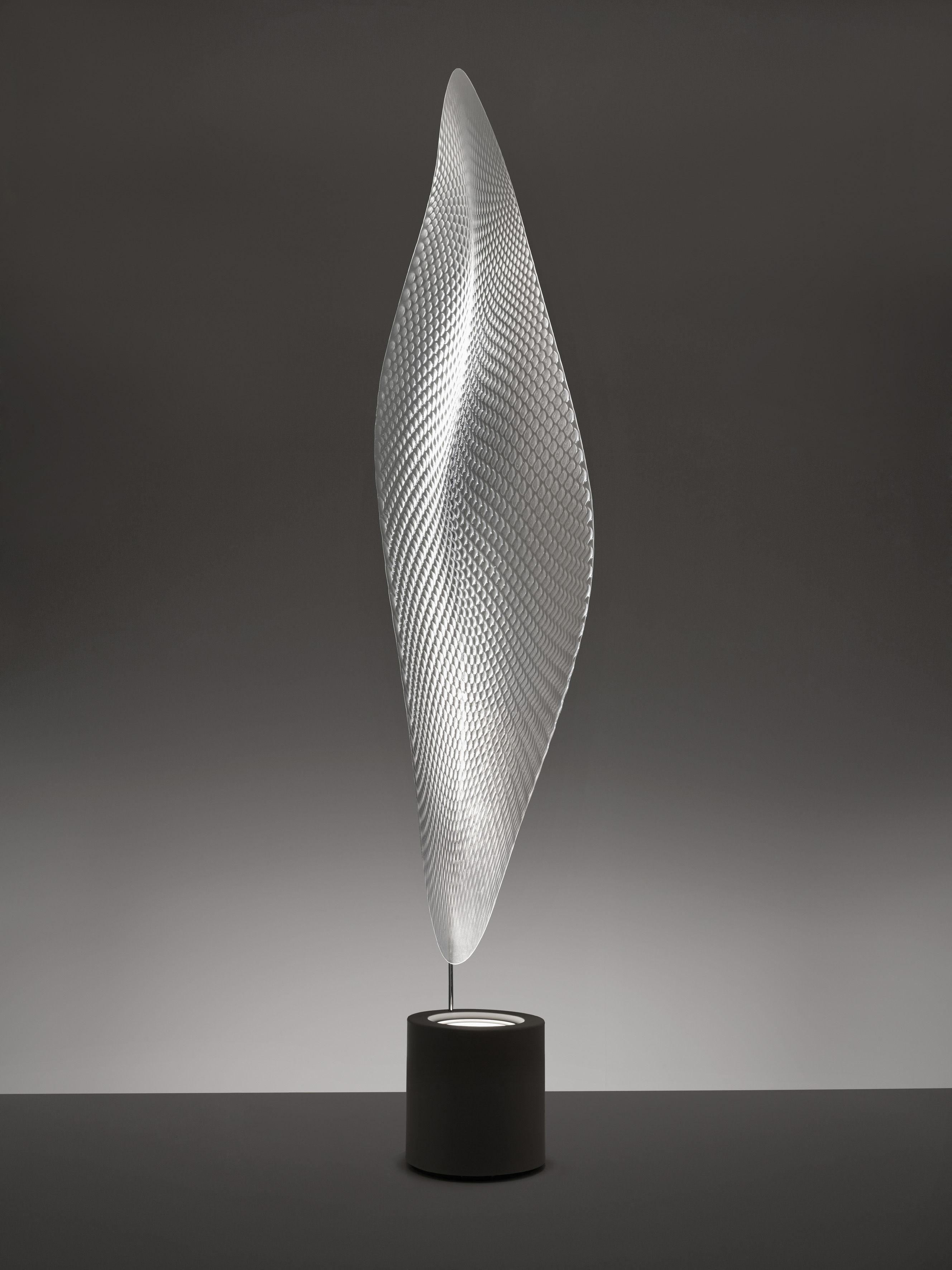 Floor Lamp Cosmic Leaf By Artemide Grey Transparent