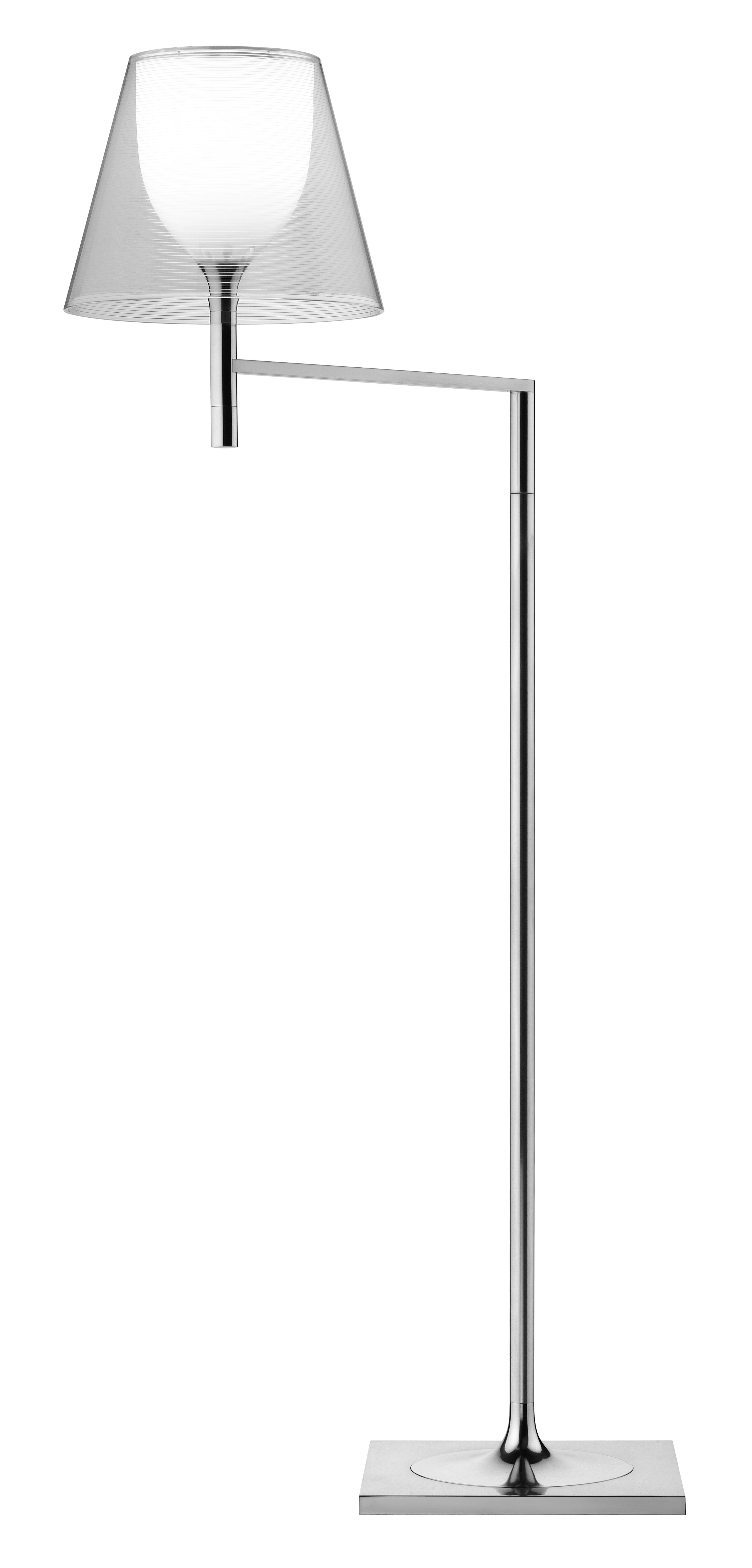 Lighting - Floor lamps - K Tribe F1 Floor lamp - H 112 cm by Flos - Transparent - PMMA, Polished aluminium