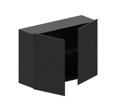 """Möbel - Regale und Bücherregale - Kiste Push-to-Open / für Bücherregal """"Easy Irony"""" - L 100 cm - Zeus - Schwarzbraun - bemalter Stahl"""
