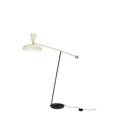 Illuminazione - Lampade da terra - Lampada a stelo G1 - / Riedizione 1951, Pierre Guariche / H 120 cm di SAMMODE STUDIO - Crema brillante - Alluminio, Ottone