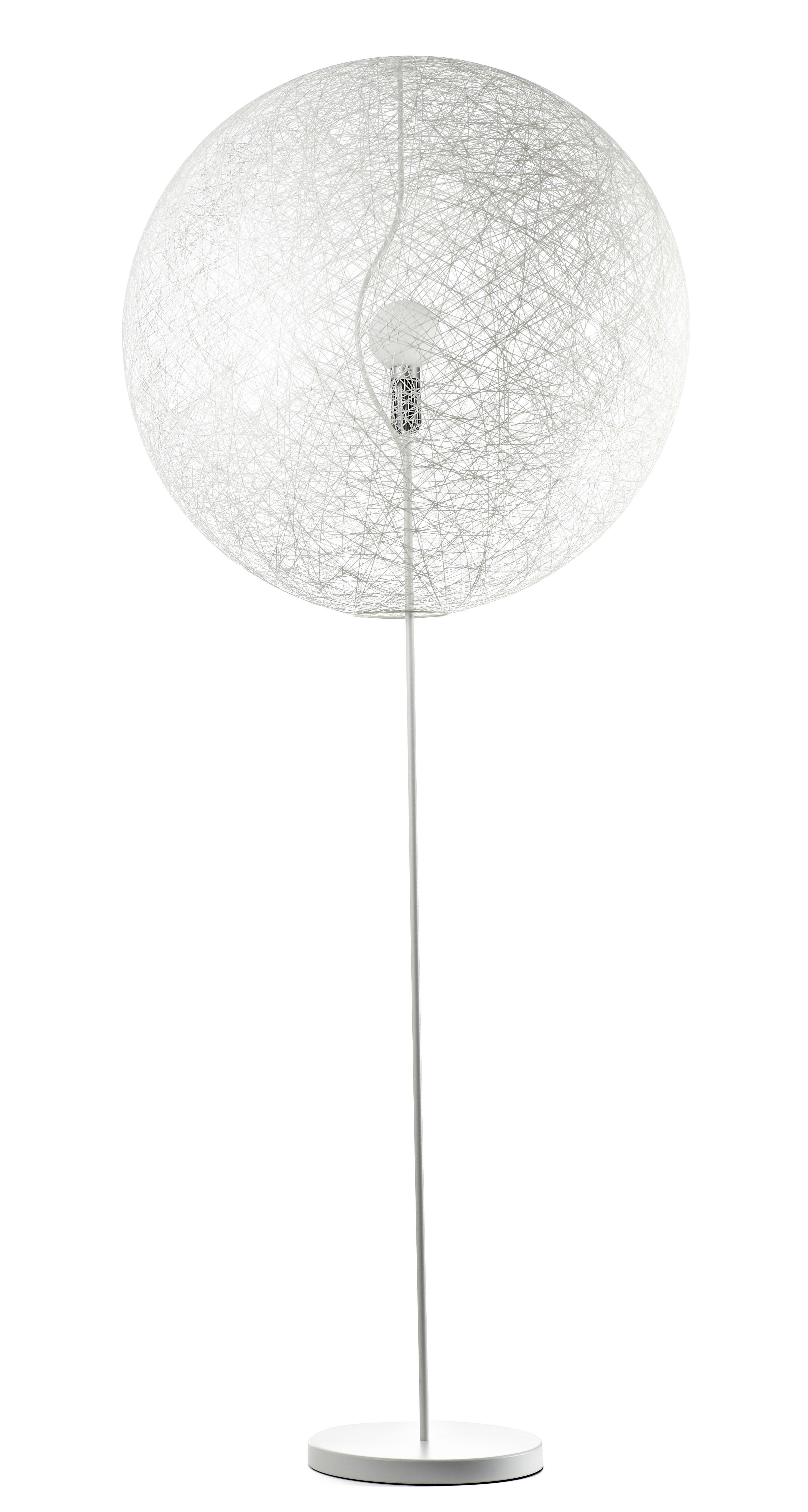 Illuminazione - Lampade da terra - Lampada a stelo Random Light LED - LED - Medium Ø 80 cm di Moooi - Bianco - H 205 x Ø 80 cm - Acciaio, Fibra di vetro
