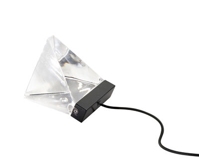 Lampe de table Tripla LED / Cristal - Fabbian transparent,anthracite en verre