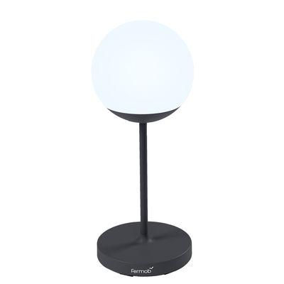 Luminaire - Lampes de table - Lampe sans fil Mooon! / H 63 cm - Bluetooth - Fermob - Carbone - Aluminium, Polyéthylène