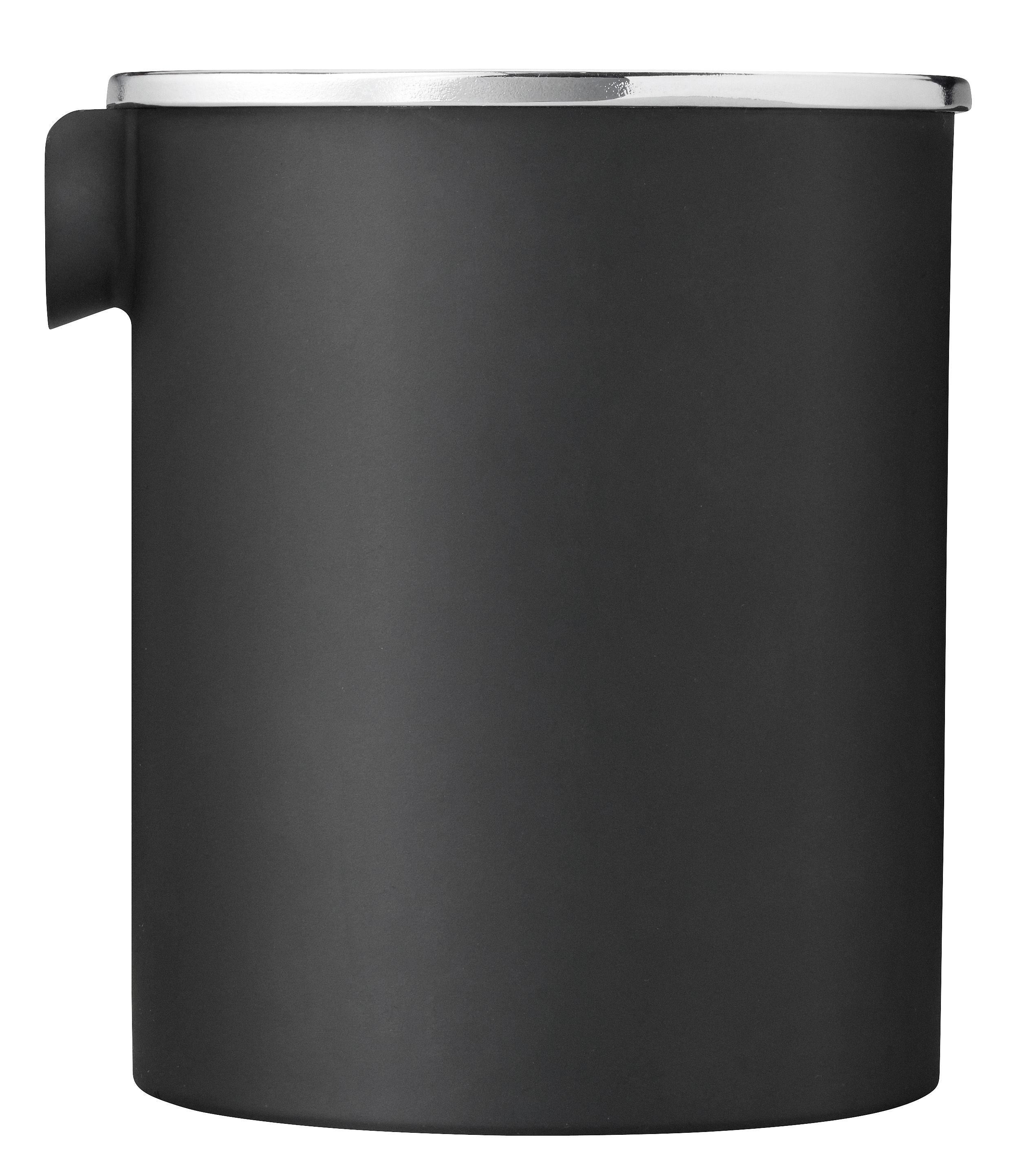 Küche - Zuckerdosen und Milchkännchen - Classic Reverse Milchkännchen / Milchkännchen - limtierte Auflage - Stelton - Schwarz / Verschluss silberfarben - ABS