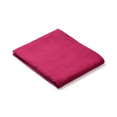 Nappe en tissu / 160 x 250 cm - Lin traité TEFLON®anti-tache - Au Printemps Paris rouge en tissu