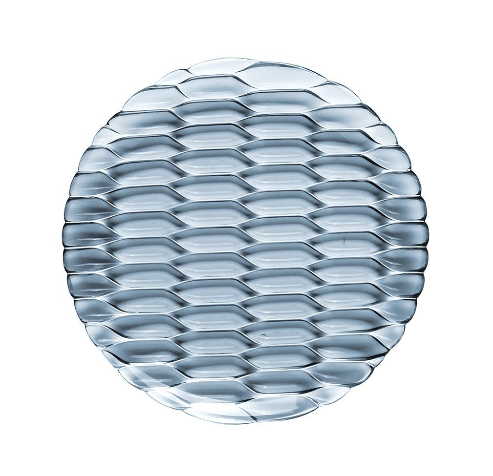 Tavola - Piatti  - Piatto da dessert Jellies Family - / Ø 21,5 cm di Kartell - Blu cielo - Tecnopolimero termoplastico