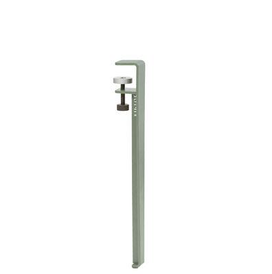 Pied avec fixation étau / H 43 cm - Pour créer tables basse & banc - TIPTOE gris en métal