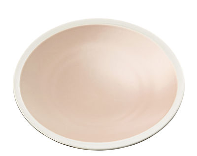 Tableware - Plates - Sicilia Plate - Ø 26 cm by Maison Sarah Lavoine - Baby pink / White - Painted enameled stoneware