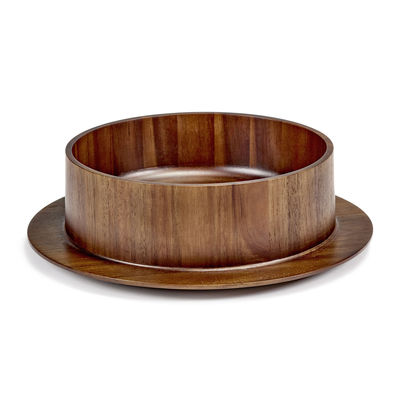 Tischkultur - Salatschüsseln und Schalen - Dishes to Dishes - Acacia Platte / Ø 35 x H 10 cm - valerie objects - Akazie - Akazienholz