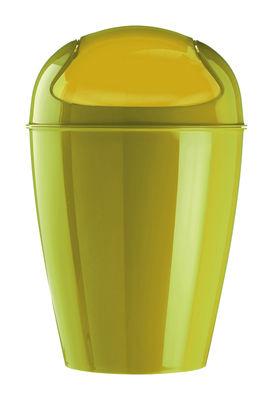 Déco - Salle de bains - Poubelle Del S / H 37 cm - 5 Litres - Koziol - Vert moutarde - Polypropylène