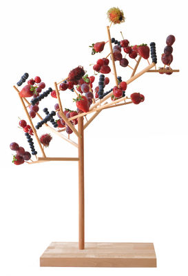 Déco - Tendance humour & décalage - Présentoir à nourriture Mangier - Arbre à manger arbre à manger - H 67 cm - Smarin - Hêtre - H 67 cm - Hêtre