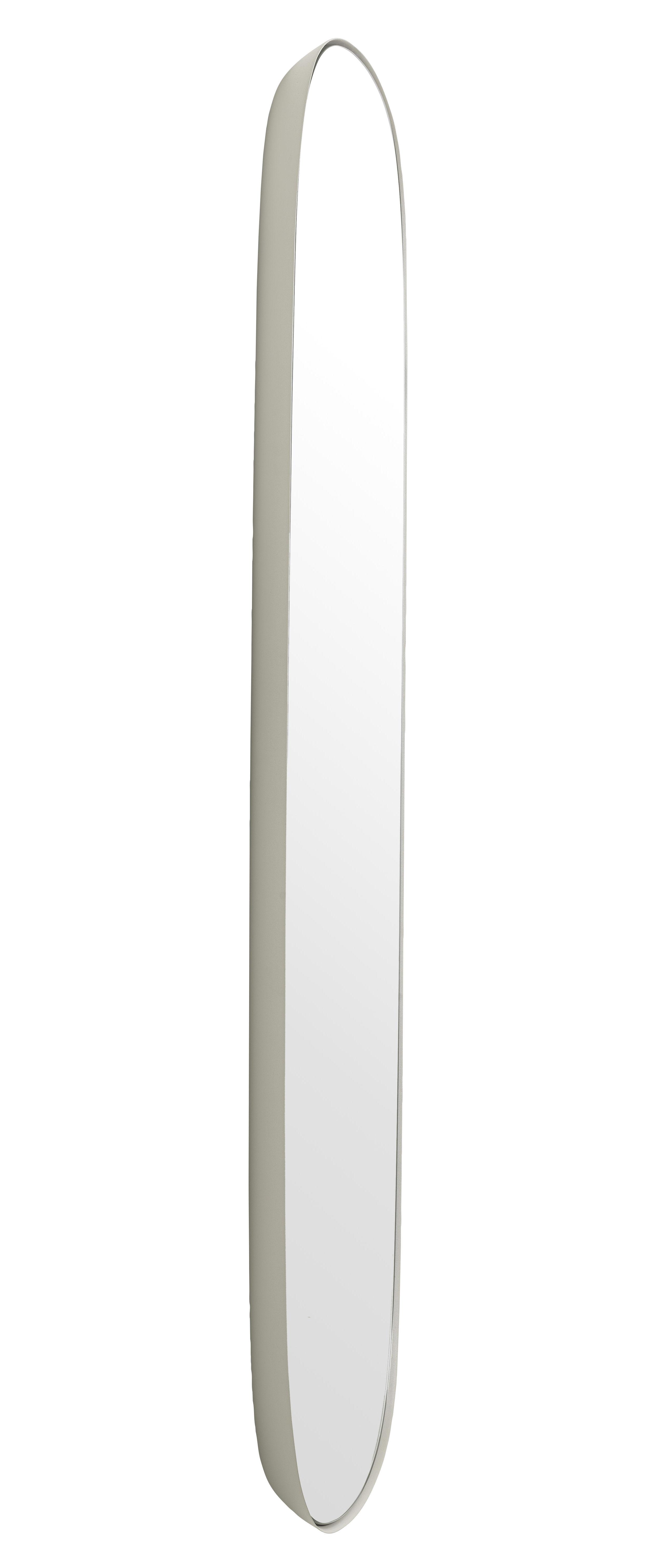 Interni - Specchi - Specchio Framed Large / L 44 x H 118 cm - Muuto - Cadre gris / Miroir standard - Acciaio, Vetro